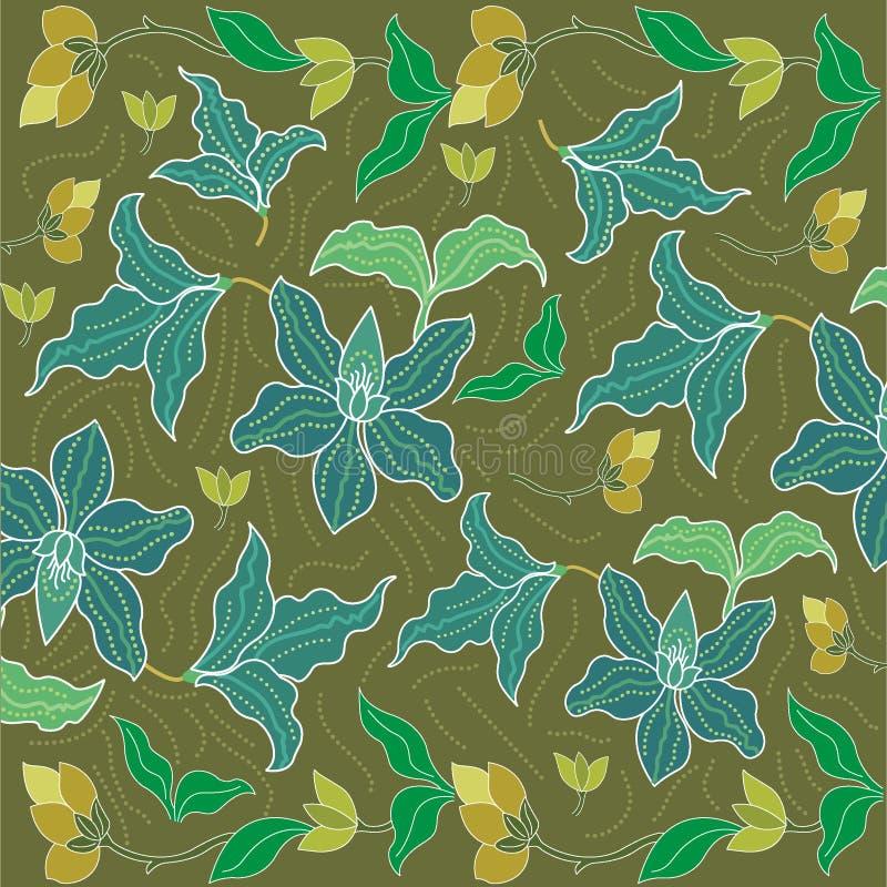 Batiksarongbakgrund i Thailand, traditionell batik royaltyfri illustrationer