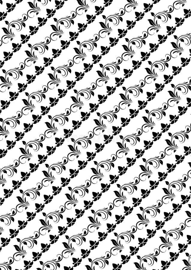 Batikvector in witte Reeks als achtergrond 2 royalty-vrije illustratie