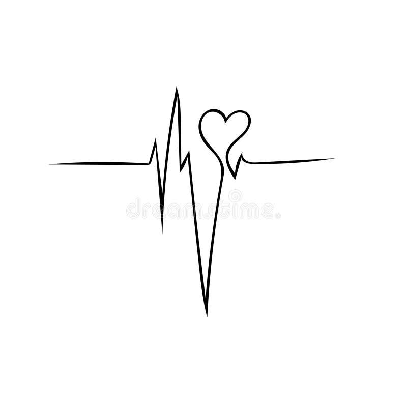 Batimento cardíaco - amor ilustração do vetor