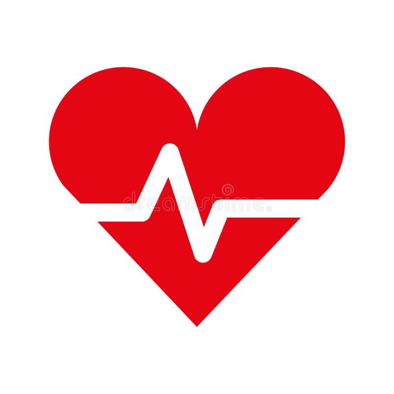 Batimento cardíaco da cardiologia ilustração royalty free