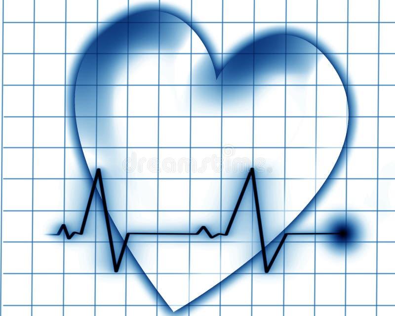 Batimento cardíaco em um monitor ilustração royalty free