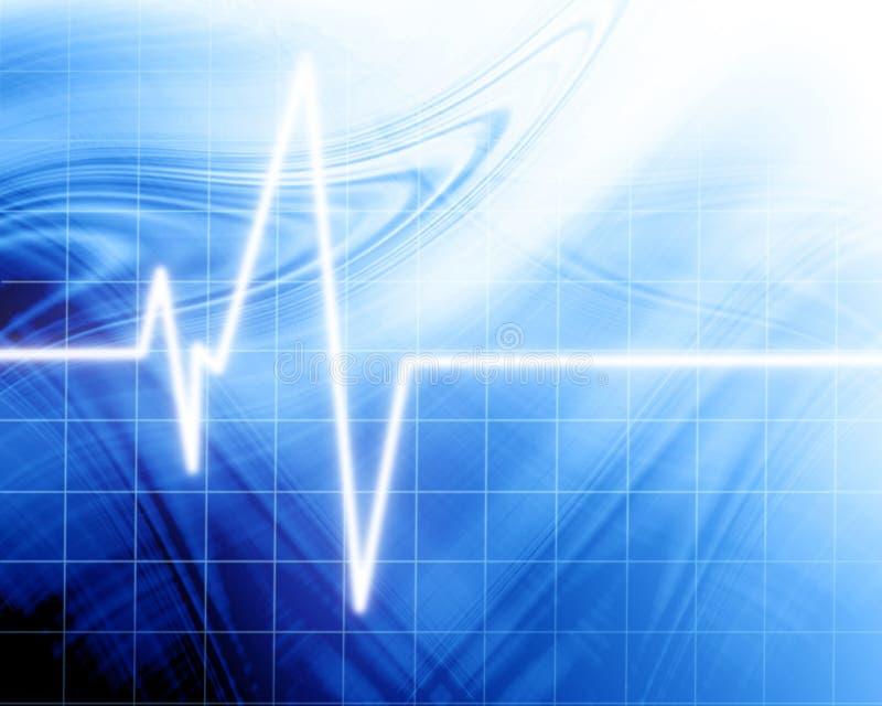 Batimento cardíaco no monitor da clínica ilustração do vetor