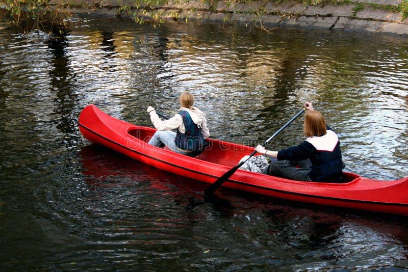 Batimiento de la canoa fotografía de archivo