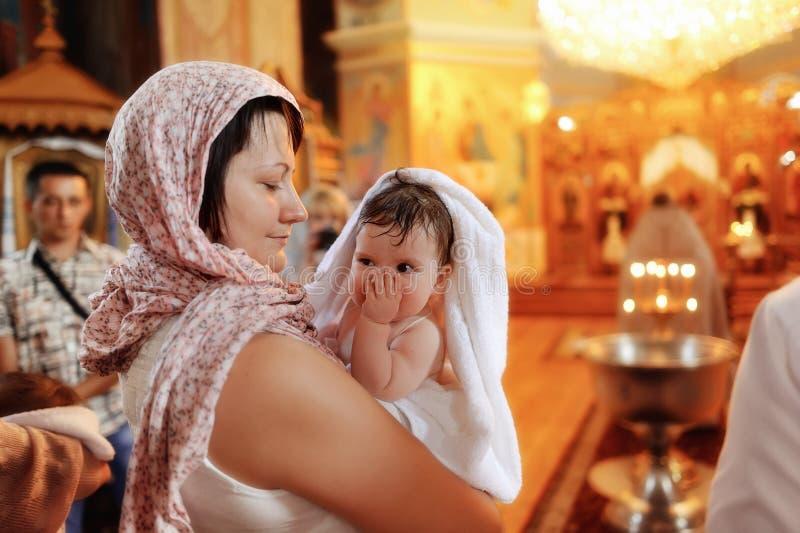 Batismo infantil foto de stock
