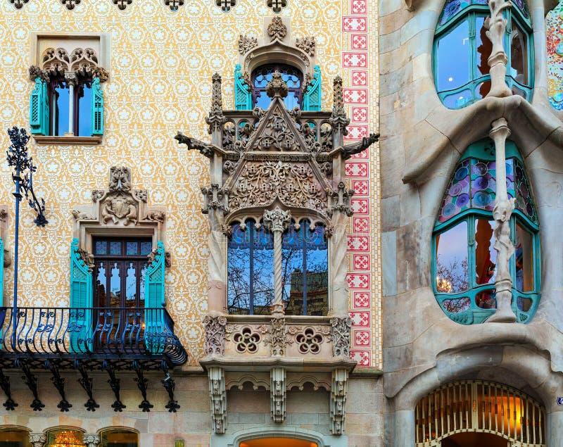 ³ Batllà Касы и Каса Amatller в Барселоне, Испании стоковая фотография