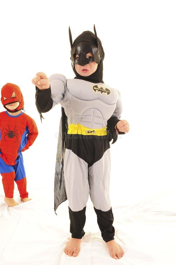 Batman e Spiderman foto de stock royalty free
