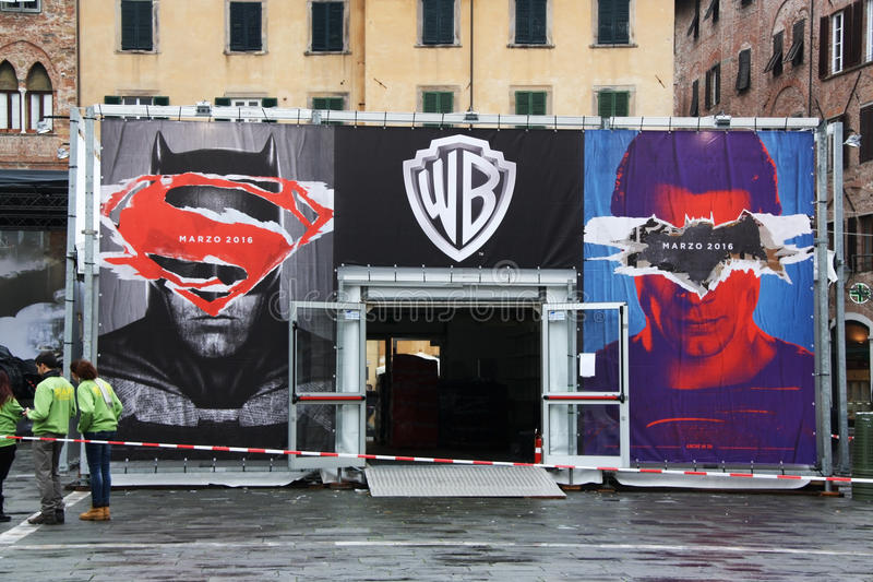 Batman gegen Supermann stockfoto