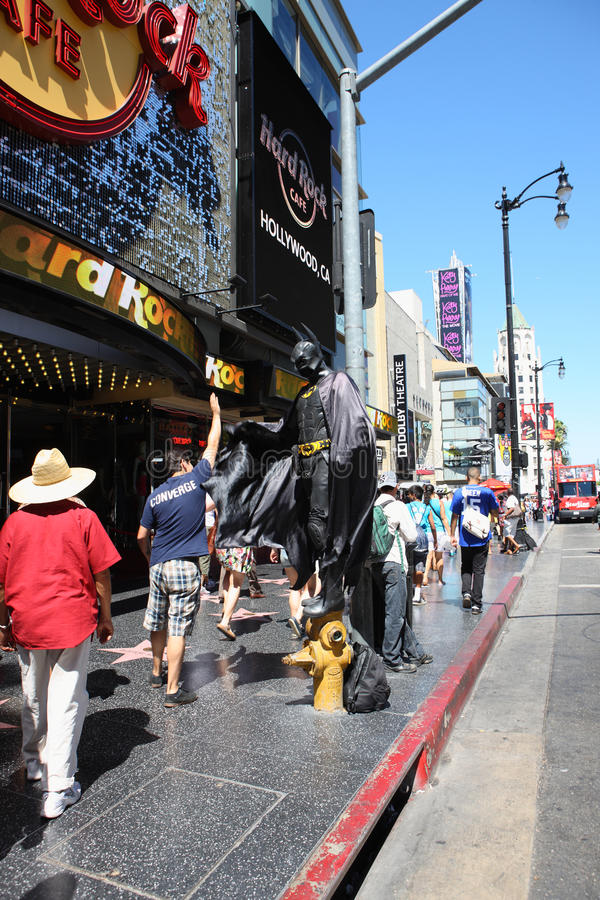Batman in hollywood walk royalty free stock photography