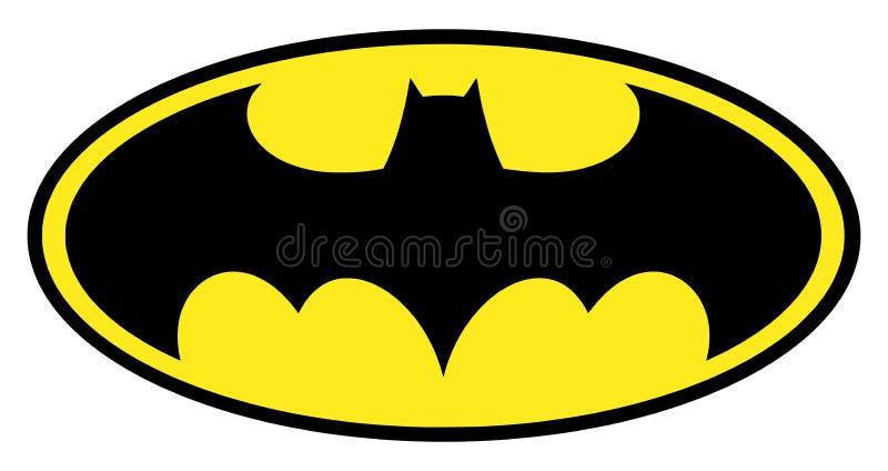 Batman logo royaltyfri illustrationer