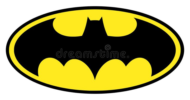 Batman logo. High quality vector illustration of the famous batman logo isolated on white background. High definition - original version royalty free illustration