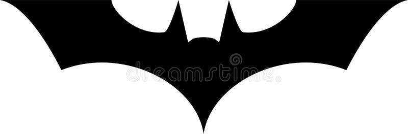 Batman logo ikony wektoru ilustracja ilustracja wektor