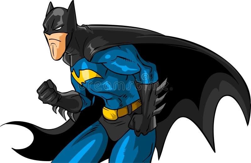 Batman prêt à l'action pendant la nuit de Gotham City image stock
