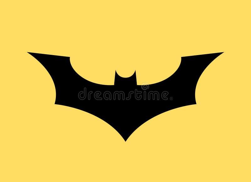 Batman vector logo concept icon. Bat man dark knight superhero cartoon abstract icon.  royalty free illustration