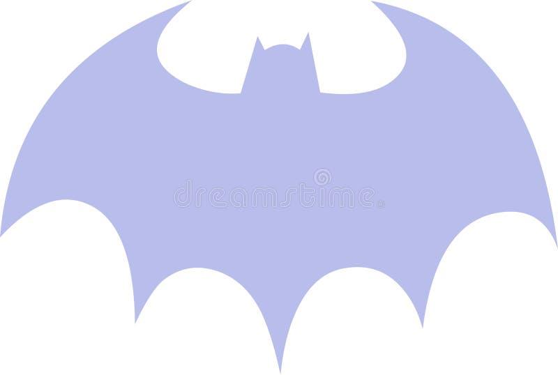 Violet Batman Symbol royalty free illustration