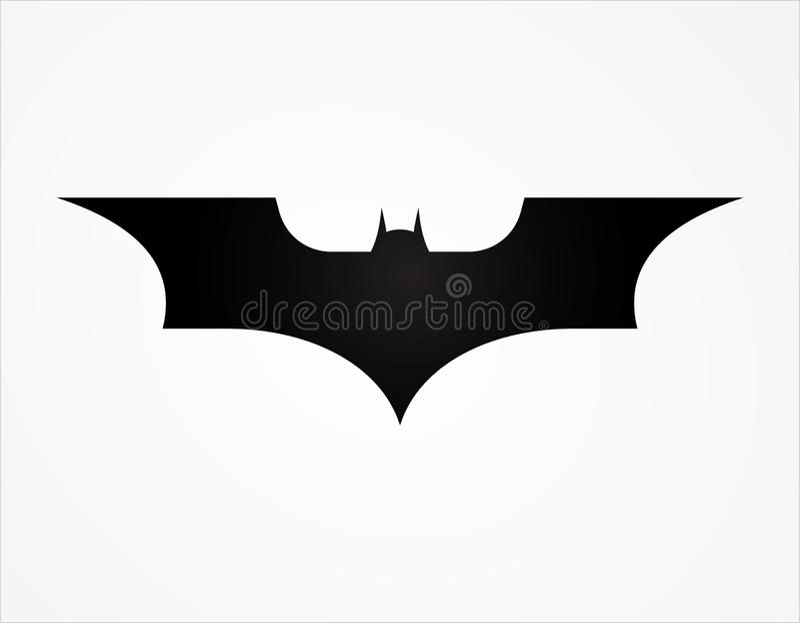 Batman wing logo superhero silhouette logo template. Animal, art, background, badge, banner, bat, batman, black vector illustration