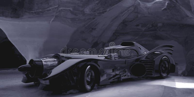 Batmobile 1989 arkivbild