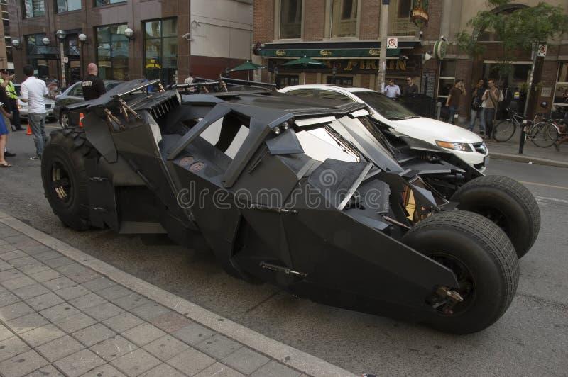 batmobile ciemny rycerz obrazy stock
