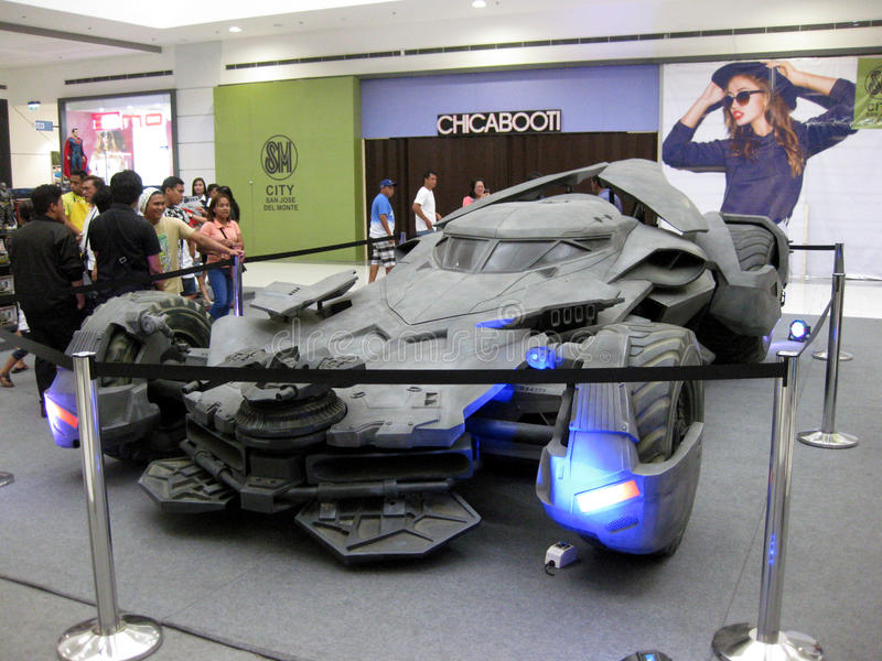 Batmobile 2016, Mall Inspektion San Jose Del Monte, Bulacan, Philippinen lizenzfreies stockfoto