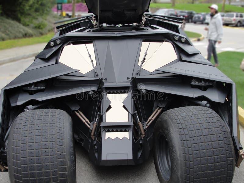 Batmobile vom dunklen Ritter Movie Batmans lizenzfreie stockfotos
