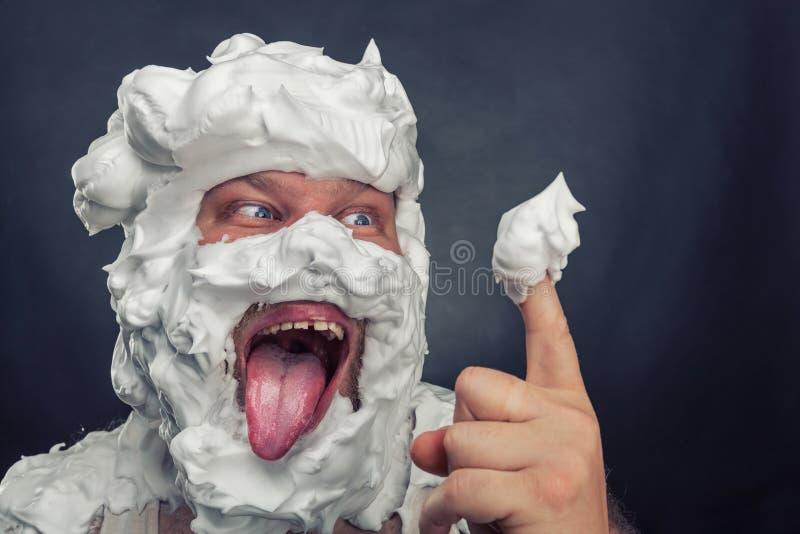 Batożący kremowy licker zdjęcia stock
