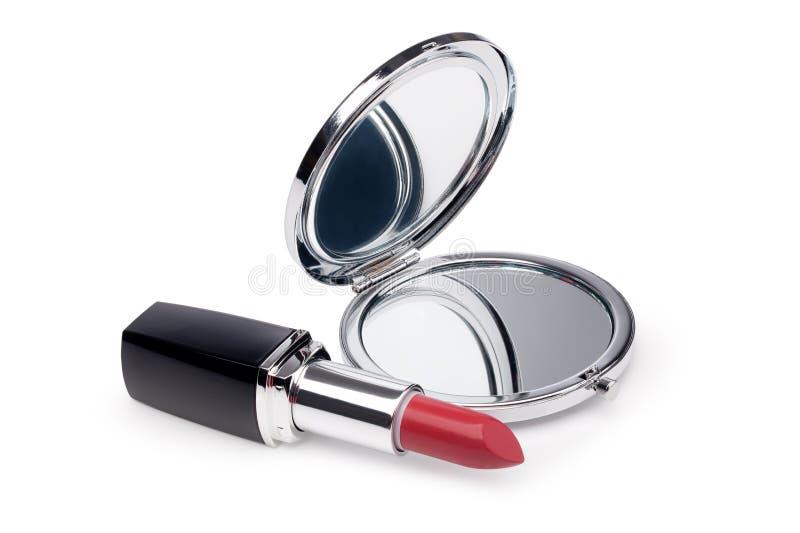 Download Batom e espelho vermelhos foto de stock. Imagem de espelho - 29836194
