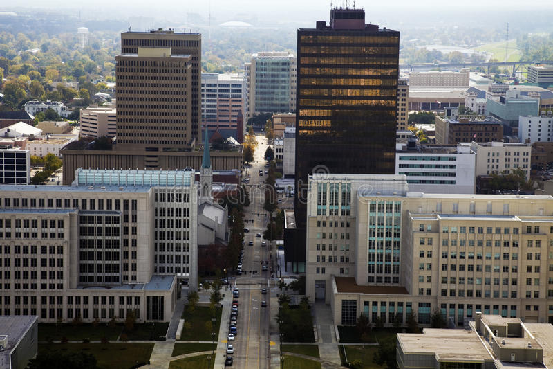 Baton Rouge aerea fotografia stock
