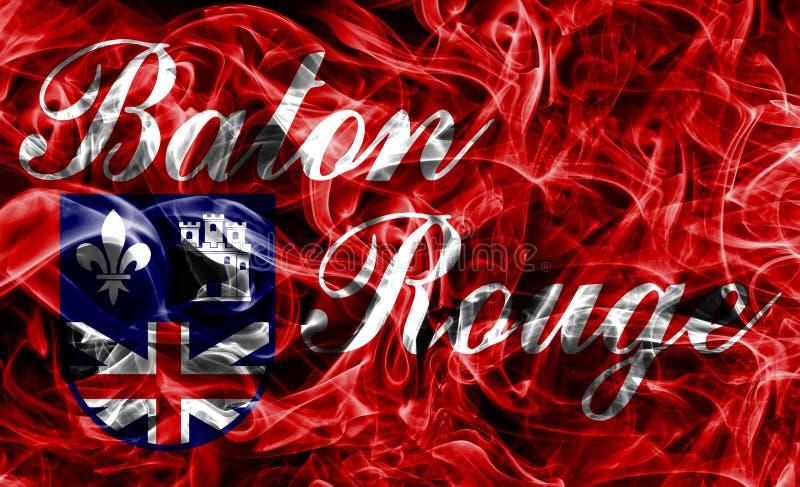 Baton Rouge-Stadt-Rauchflagge, Staat Louisiana, Vereinigte Staaten von A lizenzfreie stockfotos