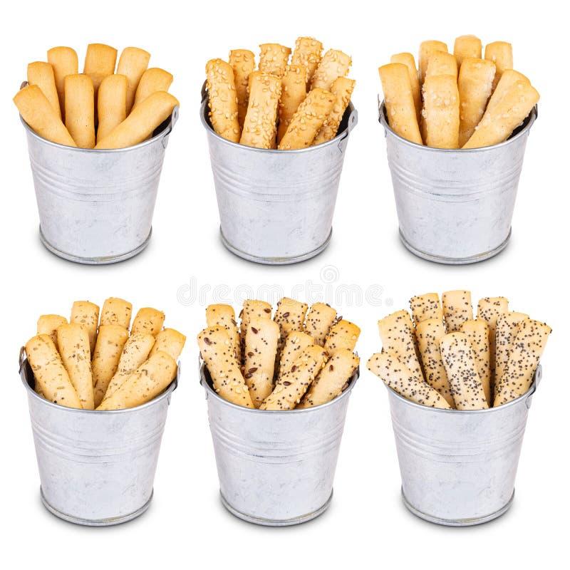 Batons de pain croustillants images libres de droits