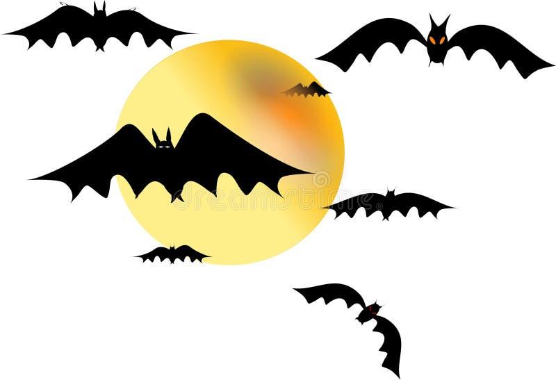 bats белизна иллюстрация вектора