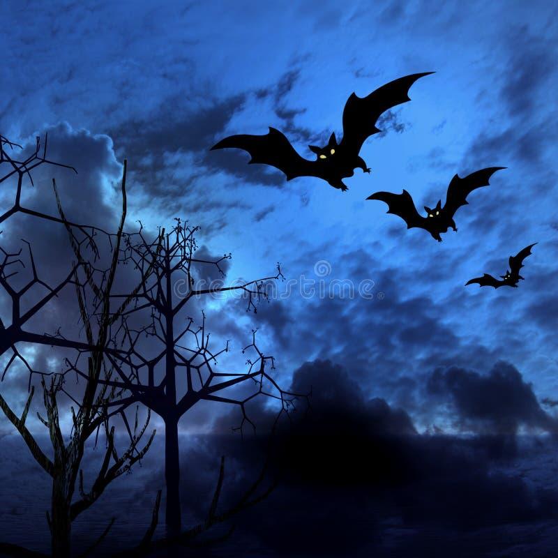 bats изображение halloween иллюстрация вектора