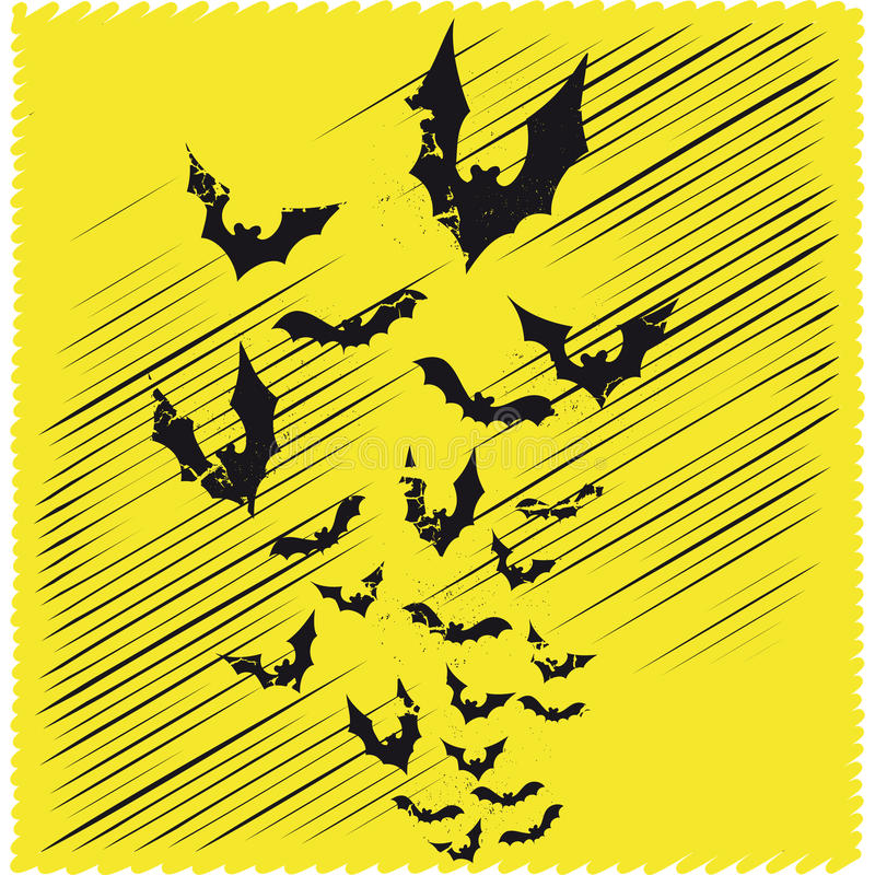 Bats flying vector stock images