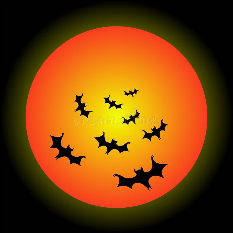 bats halloween иллюстрация вектора
