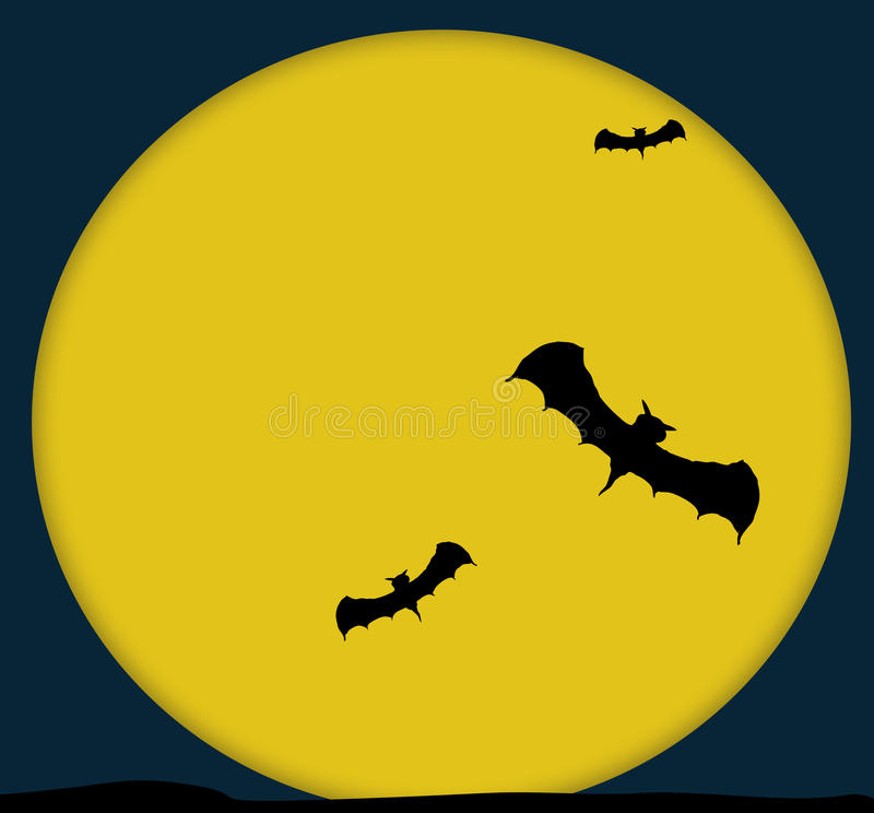Download Bats And The Moon Royalty Free Stock Photos - Image: 20483238