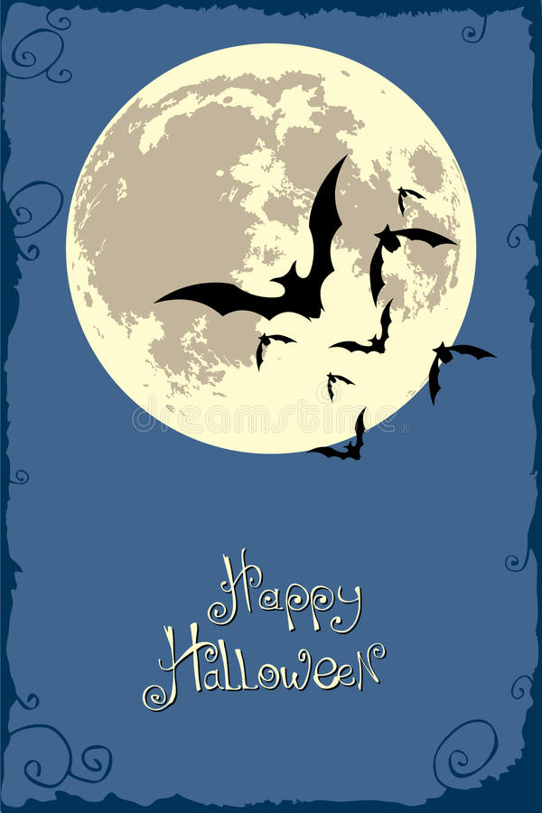 Download Bats in the moonlight stock vector. Image of holiday - 21173547