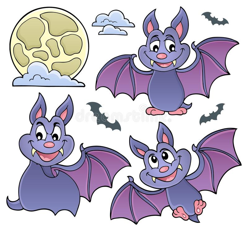 Bats theme collection 1. Eps10 vector illustration royalty free illustration