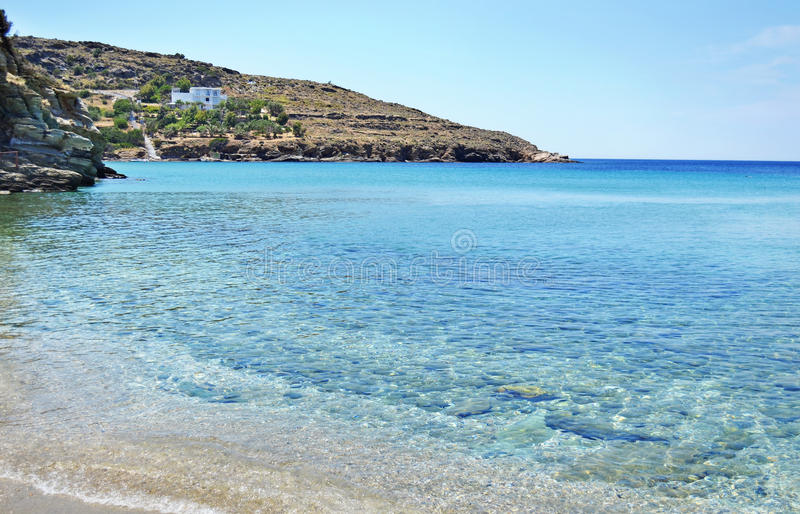 Batsi beach Andros island Greece stock image