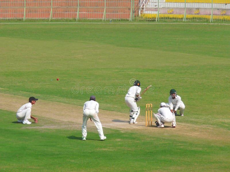 Batsman Under Pressure stock photo
