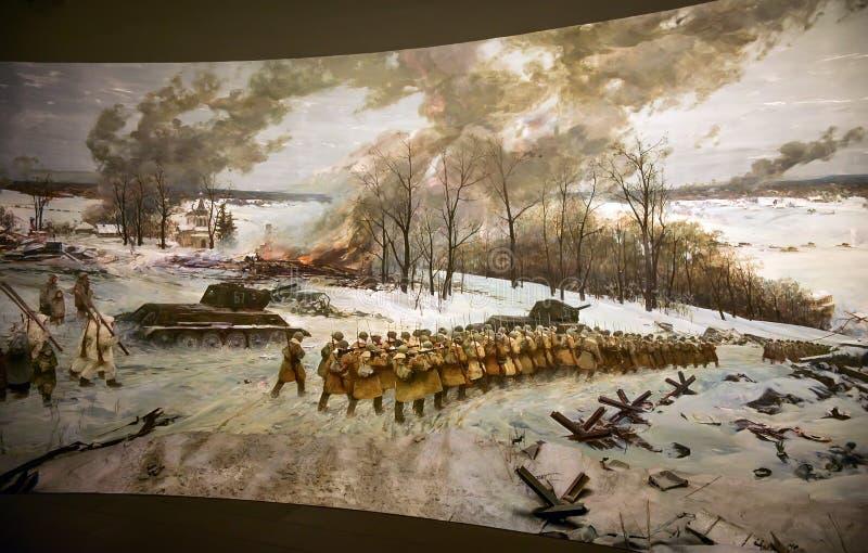 Battaglia del diorama di Kursk fotografia stock