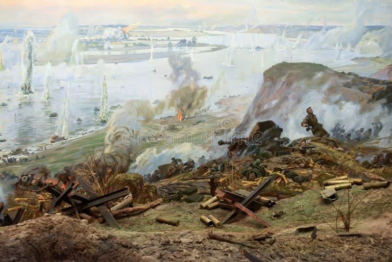 Battaglia del diorama di Stalingrad immagine stock