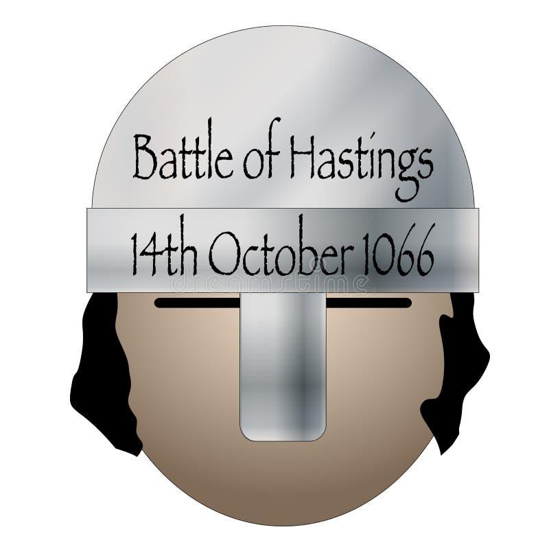 Battaglia dell'icona della data di Hastings illustrazione di stock