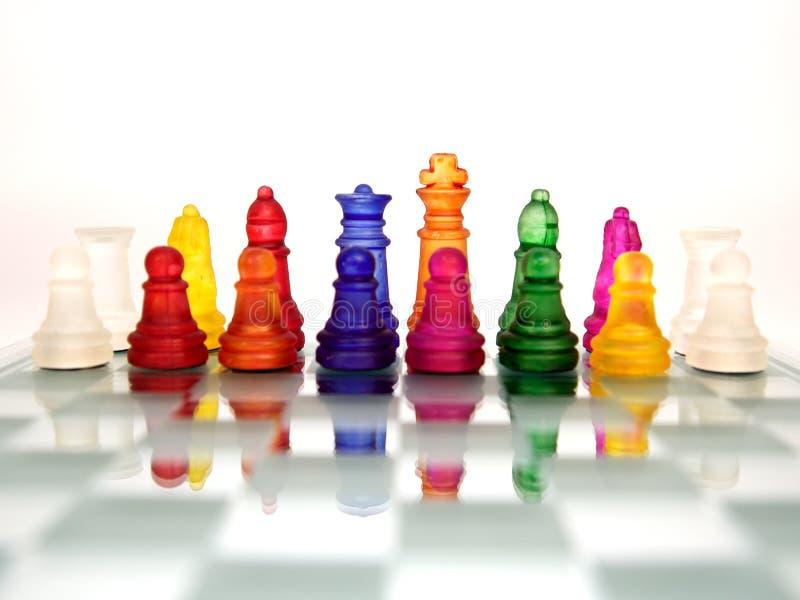 Battaglia della squadra di scacchi fotografia stock libera da diritti