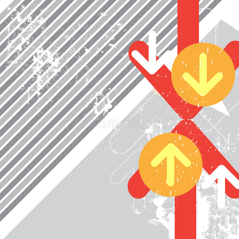Battaglia Di Arresto Della Freccia Con Grunge Immagine Stock Libera da Diritti