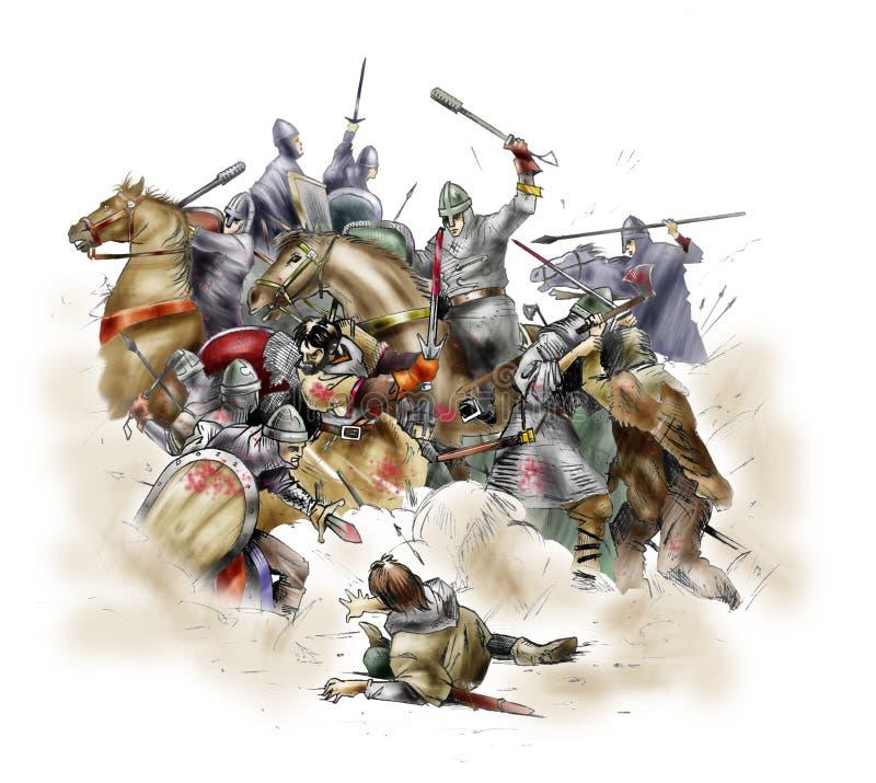 Battaglia di Hastings - 1066 illustrazione vettoriale
