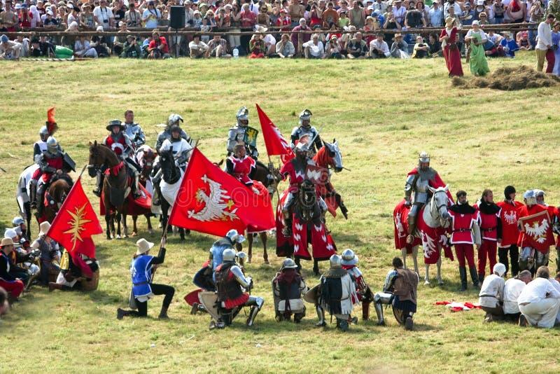 Battaglia di rimessa in vigore 1410 di Grunwald fotografia stock libera da diritti