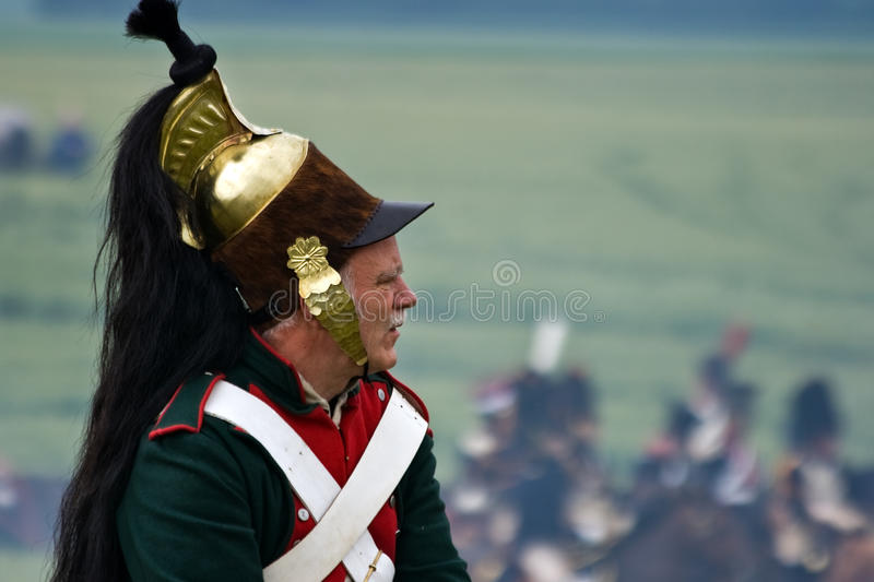 Battaglia di rimessa in vigore di waterloo, Belgio 2009 immagine stock