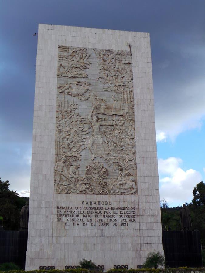 Battaglia Simon Bolivar del Carabobo del monumento ed altri eroi di indipendenza, monumento di indipendenza, Los Proceres, Caraca immagini stock