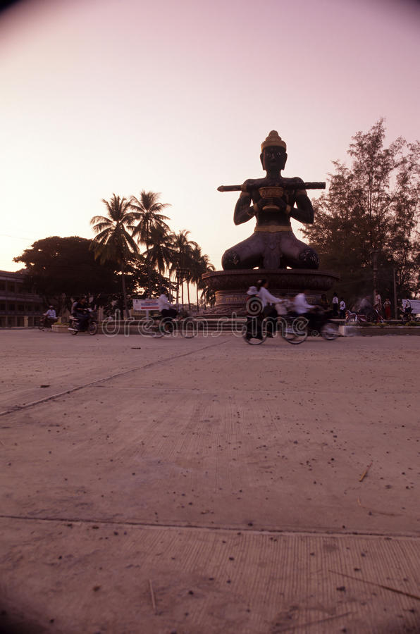 battambang Cambodia cambodian statua zdjęcia royalty free