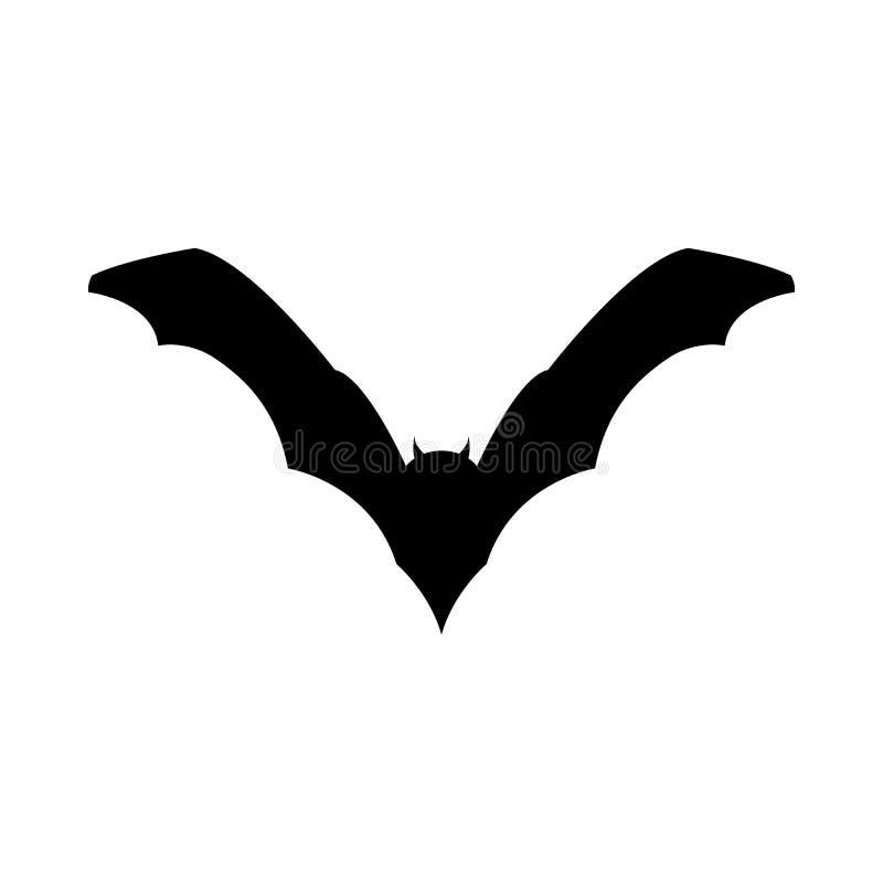Batte de noir de Halloween illustration stock