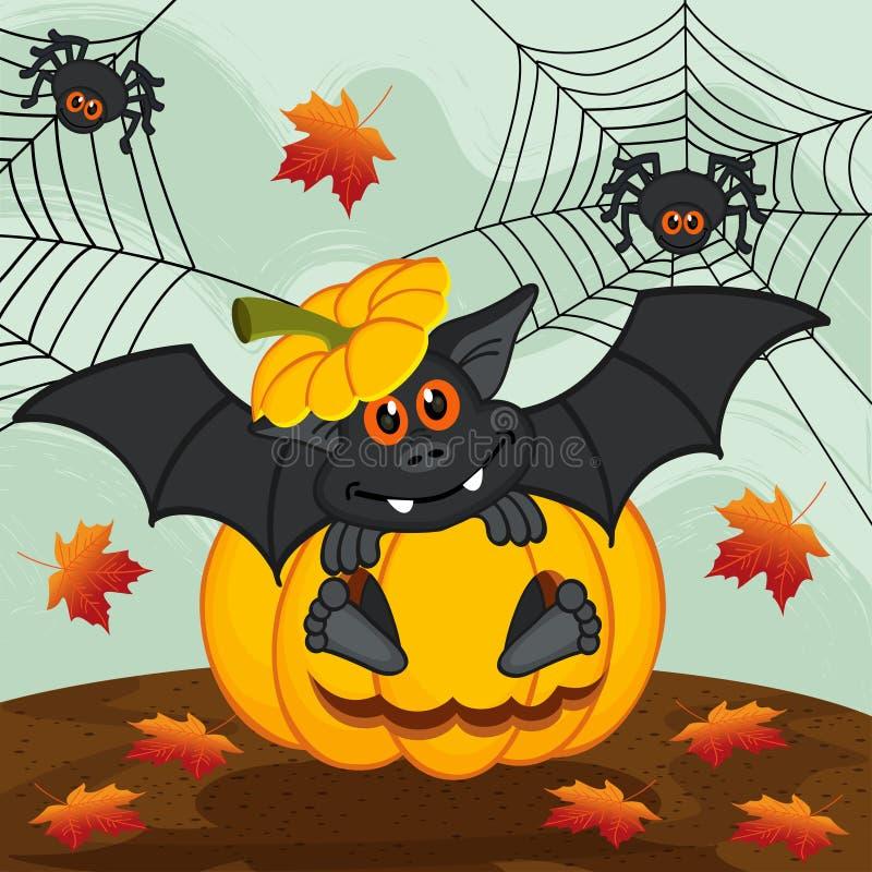 Batte de potiron de Halloween illustration stock