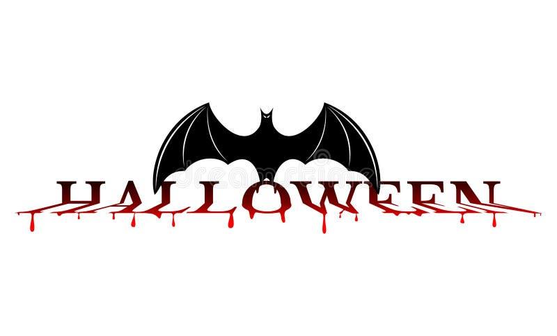 Batte de sang de Halloween illustration libre de droits